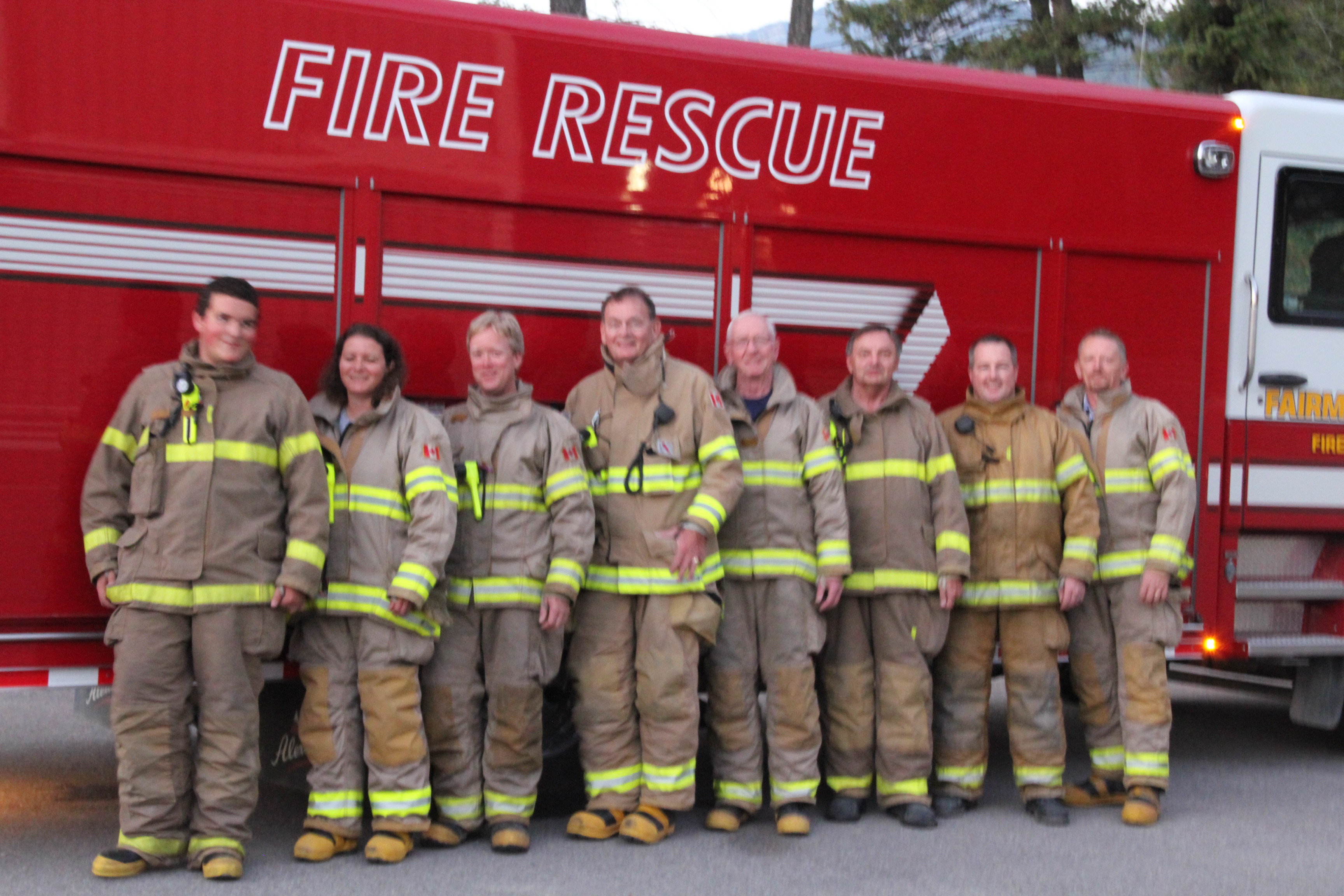 Members of the RDEK's Fairmont Fire Department